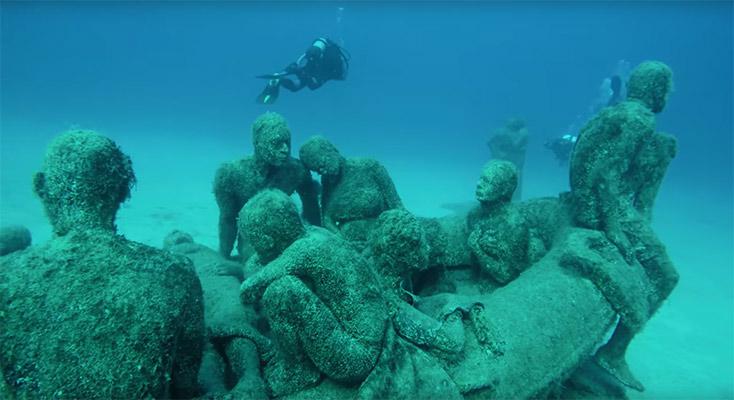 Artikelbild für: Unterwasser-Ausstellung: Museo Atlántico von Jason de Caires Taylor