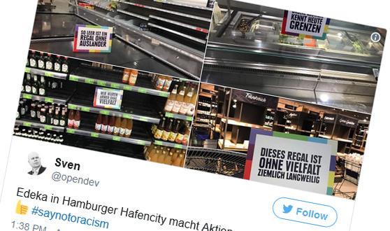 Artikelbild für: Supermarkt Aktion gegen Fremdenfeindlichkeit – oder doch nicht?