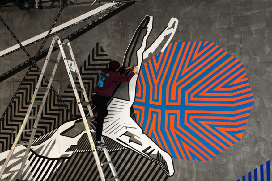 Artikelbild für: Tape Art: Nike Branding und Location Design von Tape Over