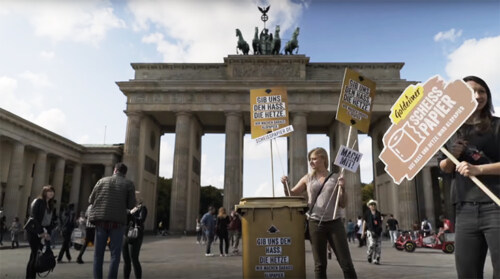 """Artikelbild für: Aktions-Klopapier gegen Hass und Hetze – """"Scheißpapier"""" von Goldeimer"""