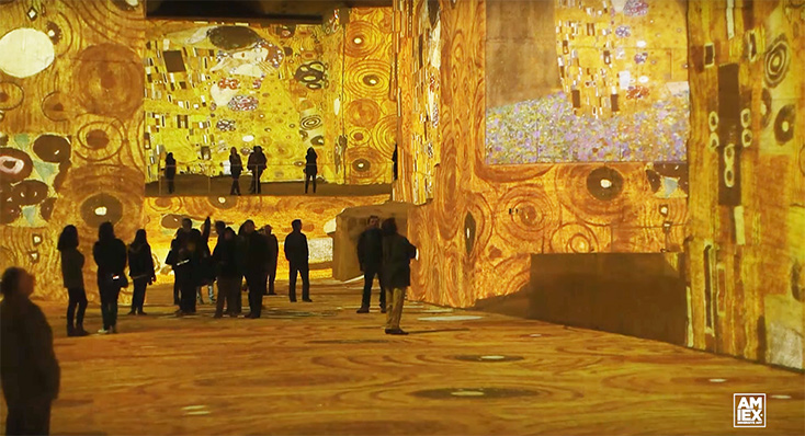 Artikelbild für: Digitale Ausstellung: Klimt als immersives Erlebnis