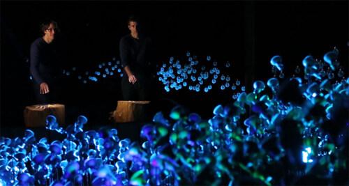 """Artikelbild für: Eine Lichtinstallation als Ökosystem: """"Light Bearers"""" rekonstruiert Glühwürmchen-Dialoge – Maotik"""