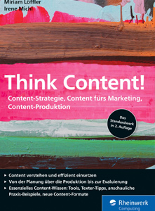 Buchcover von Think Content! Content fürs Marketing