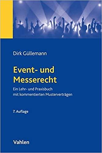 Buchcover von Event- und Messerecht