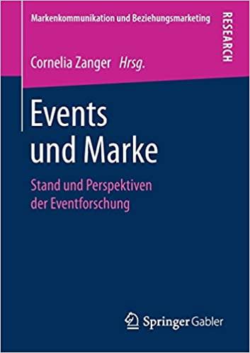 Buchcover von Events und Marke