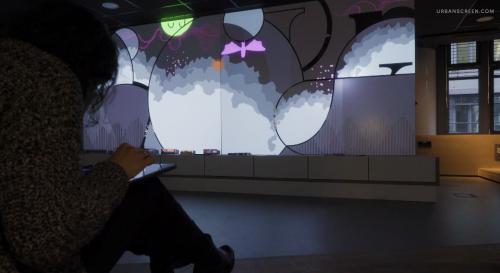 Artikelbild für: Interaktive Medien: Gruppen-Installation in der Stadtbibliothek Köln-Kalk