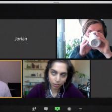 Artikelbild für: Online-Kampagne für die lustigsten, eingefrorenen Online-Meeting Gesichter